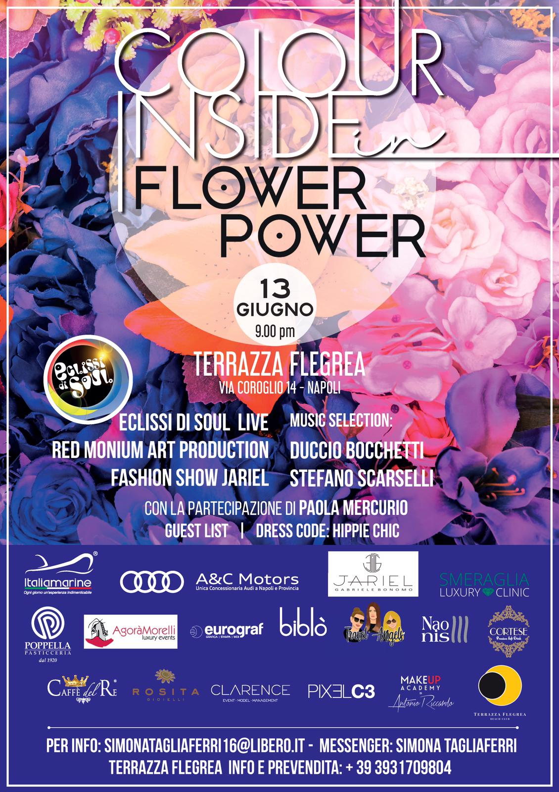 Colour Inside In Flower Power Terrazza Flegrea 13 Giugno