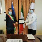 L'encomio del Sindaco Giovanni Palomba al pastry chef Luigi Vitiello