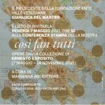 la Fondazione Ente Ville Vesuviane presenta la mostra COSI' FAN TUTTI Opere dalla collezione di Ernesto Esposito Villa Campolieto – Ercolano