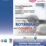 Inaugurazione del nuovo hub vaccinale a Salerno, giovedì 3 giugno